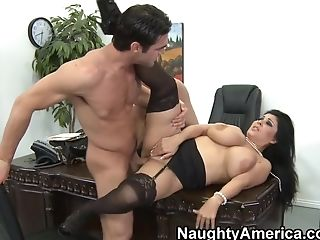 Big Ass, Big Tits, Blowjob, Hairy, HD, Jaylene Rio, MILF, Naughty, Office, Stockings,