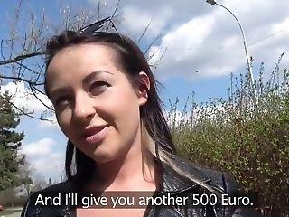 Amateur, Blowjob, Brunette, Car, Money, Natural Tits, Public, Reality, Russian, Teen,