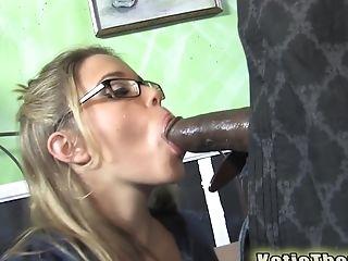Ass Licking, Babe, Big Black Cock, Big Cock, Blonde, Blowjob, Cowgirl, Glasses, Hardcore, Interracial,