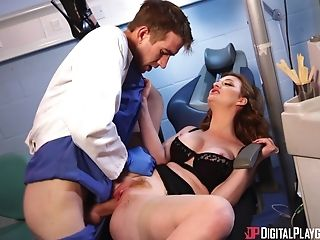 Clothed Sex, Couple, Dentist, Hardcore, Long Hair, Missionary, Pornstar, Seduction, Uniform,