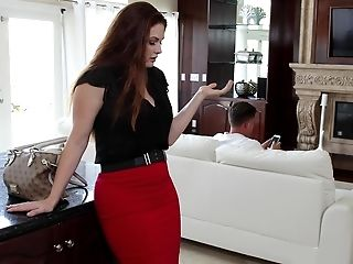 Allison Moore, American, Blowjob, Cute, Horny, Housewife, Husband, Licking, Lingerie, MILF,
