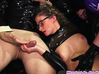 Anal Sex, Boobless, Cumshot, Facial, Fetish, German, Glasses, Hardcore, Latex, MILF,