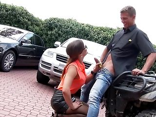 Ass, Babe, Biker, Blowjob, Bold, Car, Close Up, Clothed Sex, Couple, Doggystyle,