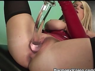 Big Tits, Cumshot, Dildo, Fetish, Latex, Pornstar, Renee Richards, Sex Toys, Stockings, Threesome,