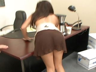 Ann Marie, Babe, Blowjob, Brunette, Cute, Office, Quickie, Sexy,