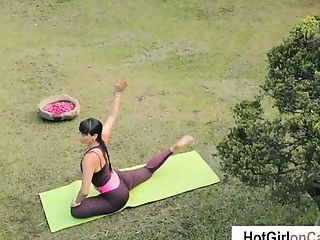 Clamp, Fitness, Girlfriend, Nature, Outdoor, Sport, Tight Pussy, Yoga,
