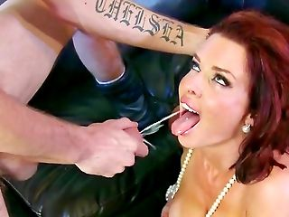 Anal Sex, Blowjob, Cum In Mouth, Cumshot, Deepthroat, Doggystyle, Fake Tits, Ginger, Hardcore, HD,