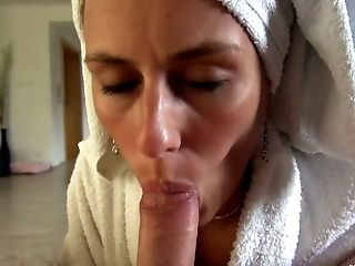 Blowjob, Private, Shower, Thick Cock, Wife,