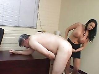 BDSM, Big Tits, Desk, Femdom, Hardcore, Strapon,