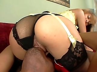 Angel Marie, Blowjob, Cowgirl, Doggystyle, Extreme, FFM, Hardcore, Interracial, Lingerie, Nylon,