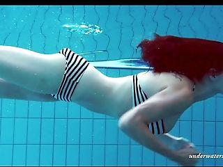 Amateur, Ass, Big Tits, Bikini, Nature, Outdoor, Pool, Softcore, Solo, Swimming,