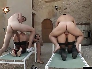 Ass, Blonde, Blowjob, Cowgirl, Cumshot, Cute, Doggystyle, Facial, Foursome, Group Sex,