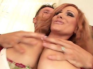 Big Tits, Blowjob, Cumshot, Cunnilingus, Facial, Pornstar, Redhead, Sharon Pink,