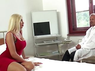 Big Tits, Blonde, Blowjob, Couple, Cowgirl, Doctor, Doggystyle, Donna Bell, Fake Tits, Fingering,