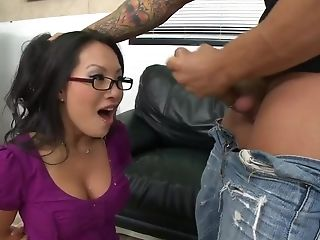 Anal Sex, Asa Akira, Big Cock, Blowjob, Glasses, Hardcore, HD, Nacho Vidal, Office, Pornstar,