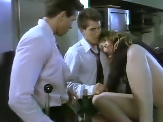 Brunette, Christy Canyon, Hardcore, HD, Threesome, Vintage,