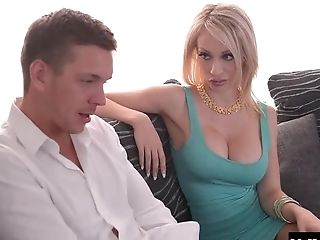 Big Tits, Blonde, Fake Tits, Hardcore, Mmf, Rough, Threesome,