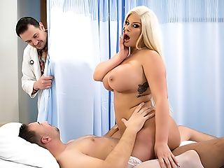 BBW, Big Ass, Big Tits, Blonde, Blowjob, Caucasian, Chubby, Doctor, Doggystyle, Glasses,