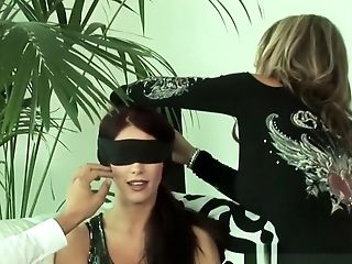 Blindfold, Brunette, Couple, Hardcore,