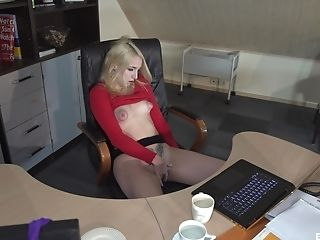 Anal Sex, Barely Legal, Blonde, Blowjob, Doggystyle, Fingering, Hardcore, Missionary, Natural Tits, Office,