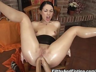 Anal Sex, Boobless, Dildo, Exotic, Fetish, Fisting, Isabella Clark, Lesbian, Pornstar, Sex Toys,