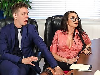 Amazing, Anal Sex, Big Ass, Big Tits, Brunette, Creampie, Extreme, Glasses, MILF, Office,