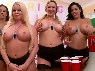 Abbey Brooks, Ass Licking, Big Tits, Blonde, Brunette, Coed, Desk, Jamie Valentine, Licking, Nikki Delano,