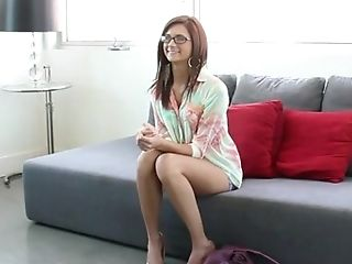 Audition, Casting, Couch, Cute, Glasses, Innocent, Money, Reality, Redhead, Skinny,