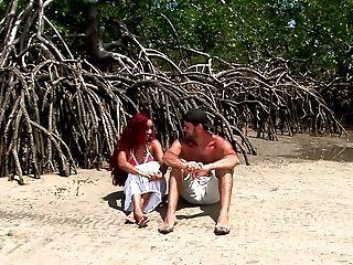 Beach, Bikini, Couple, Ginger, Gorgeous, Hardcore, Nature, Outdoor, Reality, Redhead,