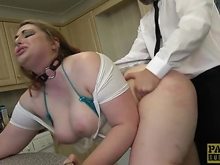 Bathroom, BBW, BDSM, Blonde, Chubby, Cum, Cum Swallowing, Fetish, Slut, Spanking,