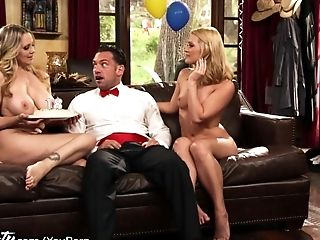 Big Tits, Boobless, Daughter, FFM, Group Sex, Julia Ann, MILF, Mom, Old, Small Tits,