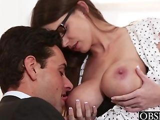 Big Tits, Brunette, Cute, Desk, Felching, Fucking, Hardcore, HD, Office, Rough,