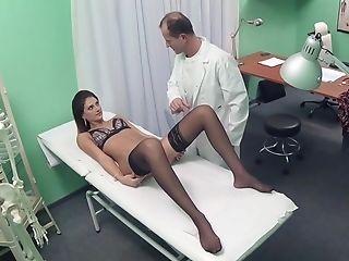 Amateur, Babe, Brunette, Clinic, Desk, Doctor, Hospital, Lingerie, Reality, Riding,