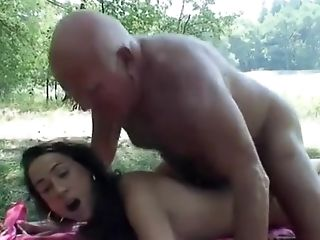 Amateur, Brunette, Massage, Old And Young, Outdoor, Striptease,